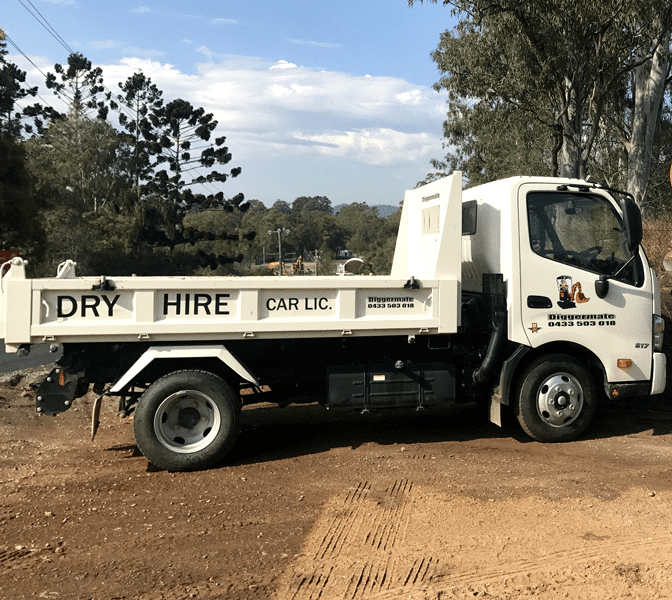 Tipper truck from Diggermate for Dry Hire