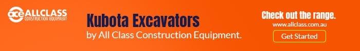 Kubota Excavators by allclass.com.au